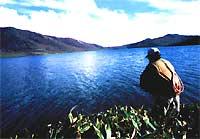 野反湖での釣り